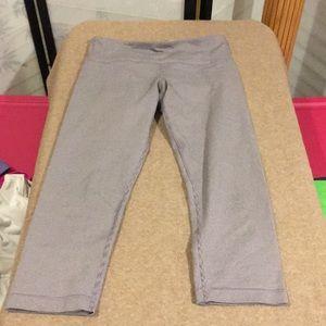 Pinkish gray pinstripe Lululemon capris size 4